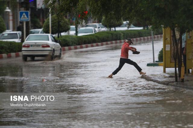 میزان بارش در دستگرد نیکشهر به 186 میلی متر رسید