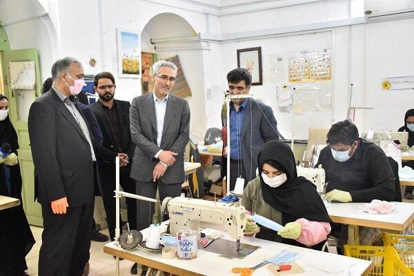 فعالیت 6 کارگاه برای تولید ماسک در خراسان جنوبی