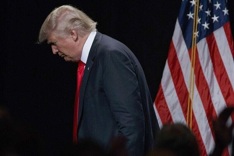 ترامپ همچنان رو به سقوط است